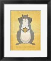 The Relentless Squirrel Framed Print