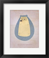 The Hirsute Hedgehog Framed Print
