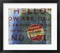 Hello Friend Framed Print