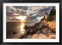 Framed Bass Harbor Lighthouse