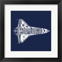 Framed One Small Step Shuttle