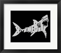 Framed Bite Me Shark
