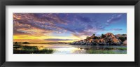 Framed Willow Lake Spring Sunset