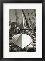 Framed Lifeboat and San Francisco Skyline