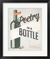 Framed Poetry in a Bottle