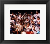 Framed New York Rangers 1994 Stanley Cup Champions Team Celebration