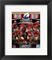 Framed San Francisco 49ers 2012 NFC Champions Composite