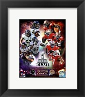 Framed Super Bowl XLVII  Match Up Composite