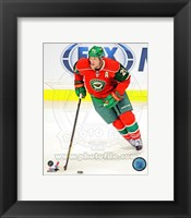 Framed Ryan Suter Passing The Hockey Puck