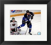 Framed David Backes 2012-13 Action