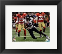 Framed Jacoby Jones running in Super Bowl XLVII