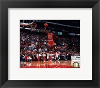 Framed Michael Jordan 1988 NBA Slam Dunk Contest Action