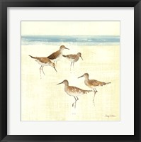 Sand Pipers Square I Framed Print