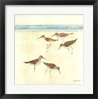 Sand Pipers Square II Framed Print