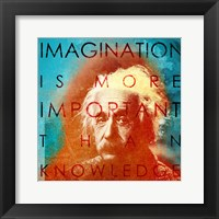 Framed Einstein - Imagination Quote
