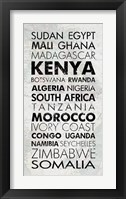 African Countries I Framed Print