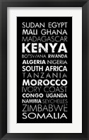 African Countries II Framed Print