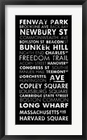 Boston Cities II Framed Print