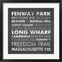 Framed Boston Cities