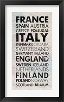 European Countries I Framed Print
