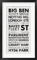 London I Framed Print
