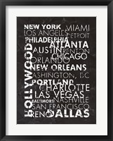 Framed United States Cities