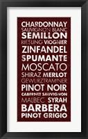 Wine List III Framed Print