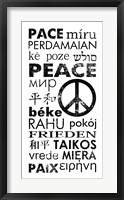 Framed Peace in Different Languages