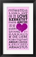 Pink Love Languages Framed Print