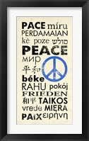 Peace Around the World Framed Print