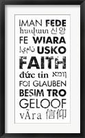 Framed Faith Languages