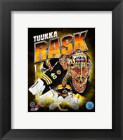 Framed Tuukka Rask 2013 Portrait Plus