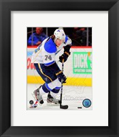 Framed T.J. Oshie in Action 2012-13
