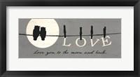 Moon Lover I Framed Print