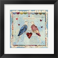 Framed Love Birds Square
