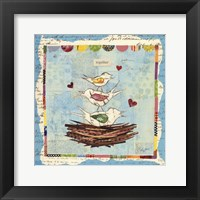 Framed Family of Love Birds Square