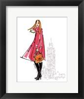 Framed Colorful Fashion I - London