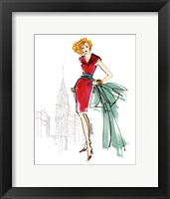 Framed Colorful Fashion III - New York