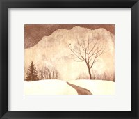 Framed Winter Path
