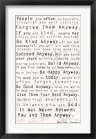 Framed Mother Teresa Quote