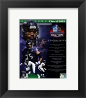 Framed Jonathan Ogden NFL Hall Of Fame Class Of 2013