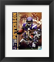 Framed Adrian Peterson 2013 Portrait Plus