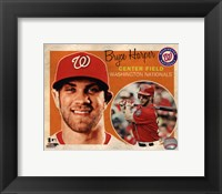 Framed Bryce Harper 2013 Studio Plus