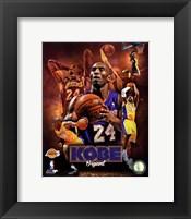 Framed Kobe Bryant 2013 Portrait Plus