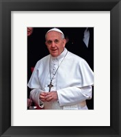 Framed Pope Francis I, Cardinal Jorge Mario Bergoglio  in Rome, March 14, 2013