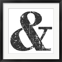 Black Ampersand Framed Print