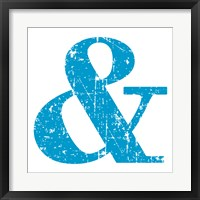 Blue Ampersand Framed Print