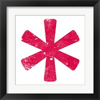 Red Asterisk Framed Print