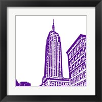 Purple Empire Framed Print