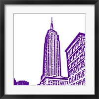 Purple Empire Framed Print